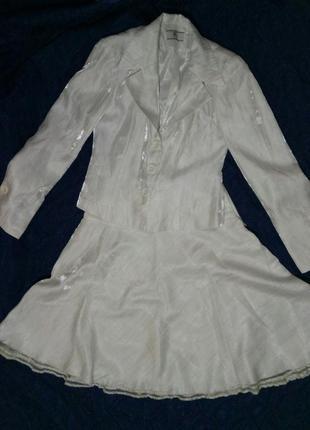 Нарядный белый костюм