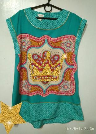 Туника платье в индийском стиле 10- 12 лет