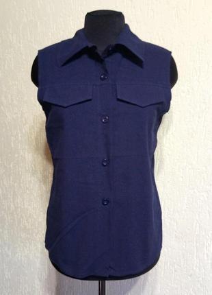 Натуральная эффектная рубашка безрукавка от scali