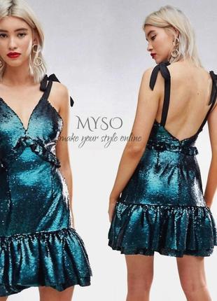 Платье усыпано паетками lost ink