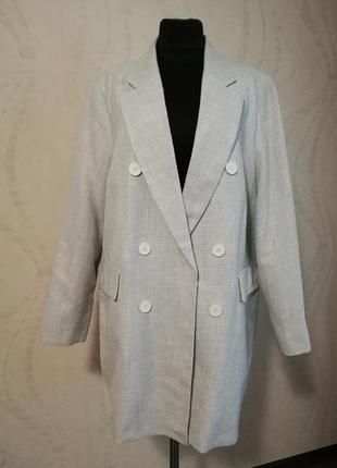 Стильный двубортный жакет пиджак для пышной красотки,большой размер