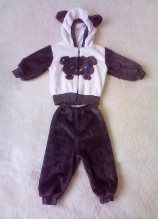 Махровый костюмчик на мальчика 6-9 месяцев
