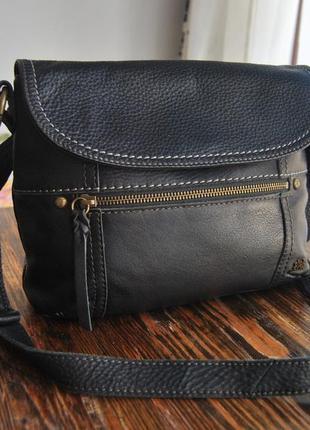 Кожаная сумка кроссбоди the sak / шкіряна сумка