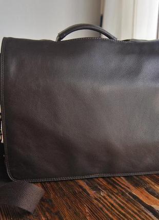 Кожаная сумка кожаный портфель унисекс  / шкіряна сумка