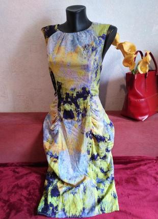Натуральный шелк, элегантное коктельное платье, молния на спинке