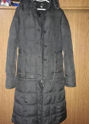 Пальто трансформер куртка пуховик с капюшоном