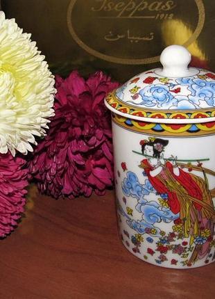 Чашка с крышкой восточная фарфор 200 мл