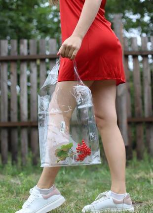Новая стильная прозрачная сумка, бакет, шопер