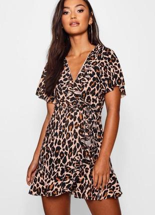 Леопардовое платье на запах❤️