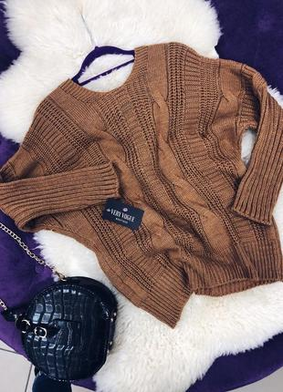 Стильный свитер с баниом на спине в наличии последние штуки