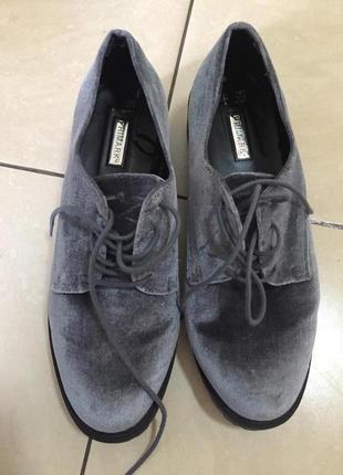 Бархатные туфли мокасины asos