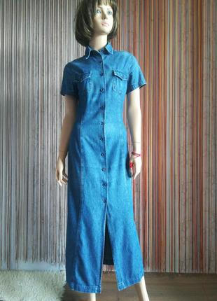 """Джинсовое платье """"edeis"""" made in morocco, длина макси."""