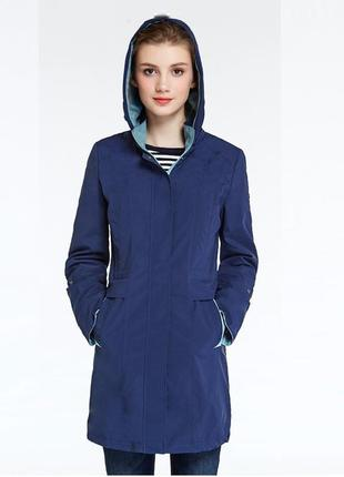 Icebear весенняя женская куртка плащ водонипроницаемая размер s