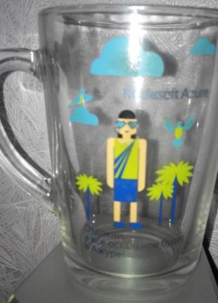 "Фирменная прозрачная чашка ""microsoft azure"""