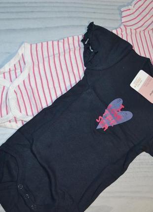 Очень красивые боди - футболка на девочку 86-92-98 на 9-12-18 мес