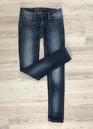 Синие джинсы скинни garcia