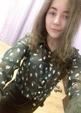Сорочка з милим принтом