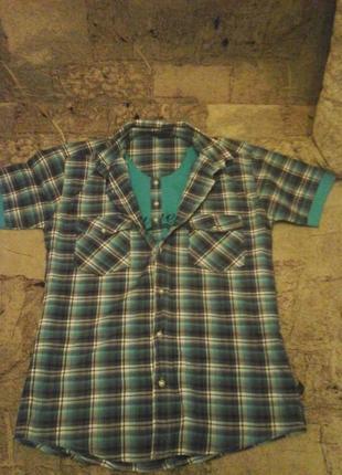 Модная рубашка в клетку на подростка