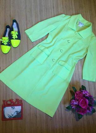 Ярко лимонное платье в стиле коко, размер l