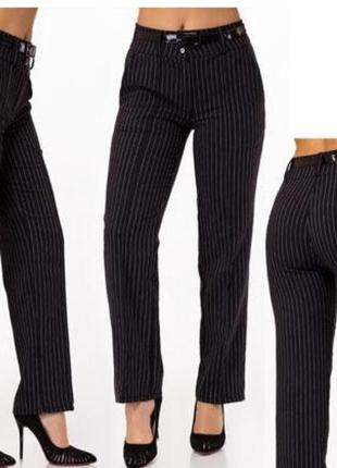 Классические брюки в тонкую полоску george