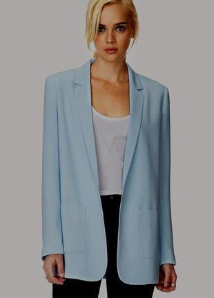 Блейзер жакет пиджак свободного кроя пыльный голубой
