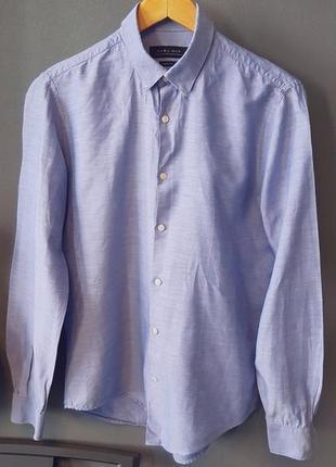 Льняная рубашка zara man