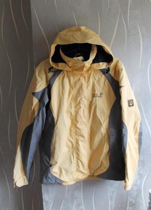 Прекрасная осенняя курточка именитого бренда на мембране ветро и водостойкая jack wolfskin