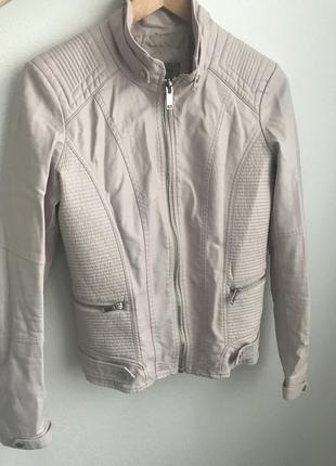 Утеплённая куртка из искусственной кожи, байкерская куртка, кожаная куртка