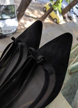 Лодочки замша dune базовые туфли на плоской подошве