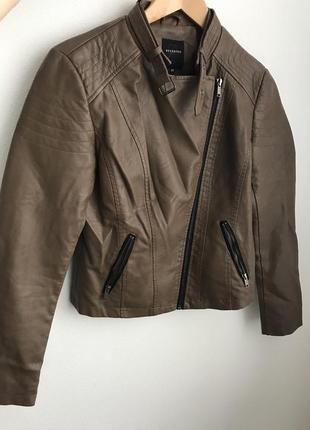 Куртка из искусственной кожи, байкерская куртка