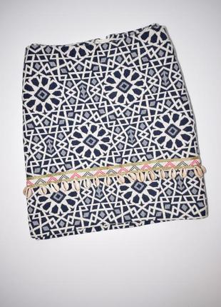 Шикарная мини юбка с ракушками h&m