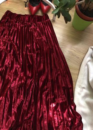 Шикарна спідниця від m&s , шикарная юбка , бархатная юбка