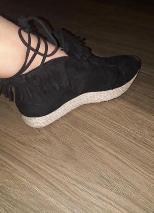 Кроссовки туфли замшевые 39р