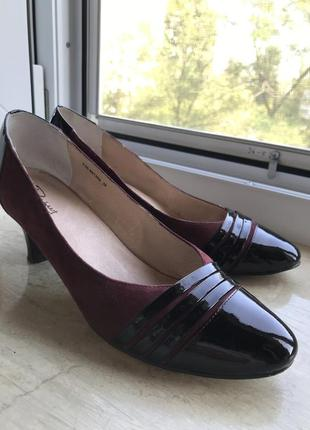 Шикарные туфли на каблуке замша