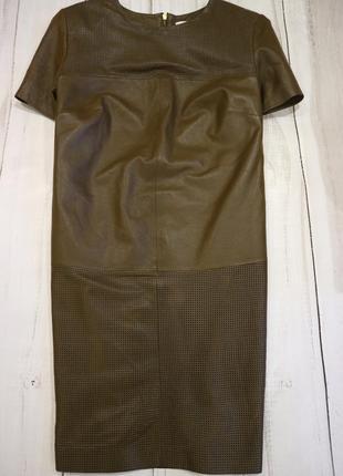 Стильное платье из натуральной кожи, франция, 2xl-3xl
