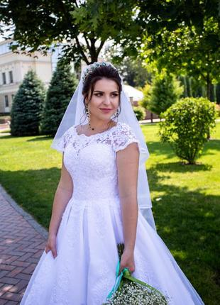 Свадебное платье кекс- трубы