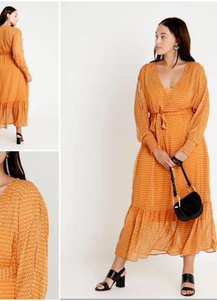 Длинное шикарное платье в принт от zizzi
