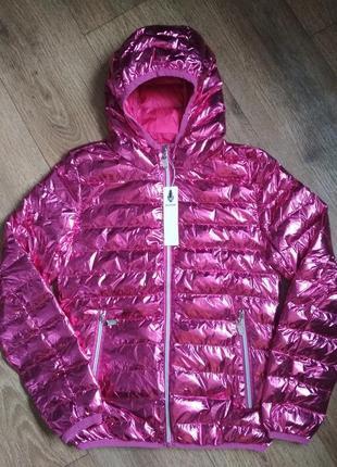 В ней будете выглядеть круто! новая яркая демисезонная куртка р. м ( маломерит, см.замеры)