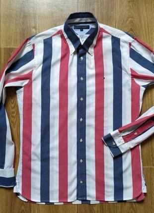 Шикарная рубашка от tommy hilfiger