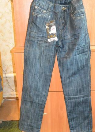 Зимние утепленные джинсы на мальчика 10-12 лет, флис