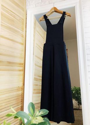 Комбинезон брючный черный длинный размер s m