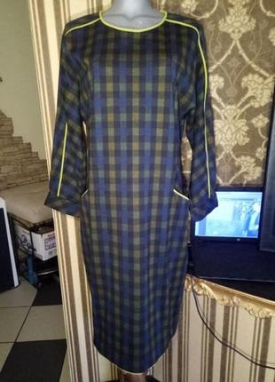 Высокое качество,платье-футляр с лампасами,большого размера