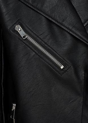 Удлинённая куртка косуха оверсайз дублёнка zara6 фото