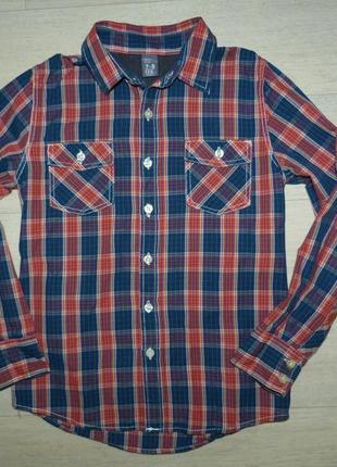 Рубашка в клетку zara 7-8 лет