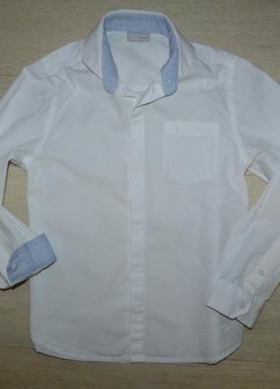 Белая рубашка next 8 лет