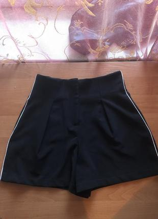 Классические шорты с лампасами высокая талия