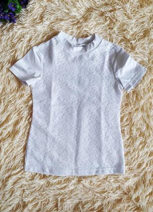 ♠️ школьная нарядная гипюровая футболка блузка ♠️