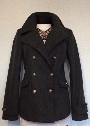 Пальто укороченное шинель  dorothy perkins размер  12 наш 46 цена 599грн.