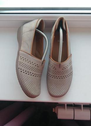 Туфли/мокасины из натуральной перфорированной кожи ara