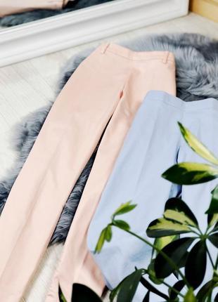 H&m xs размер классические зауженные брюки со стрелками нежно персиковый цвет